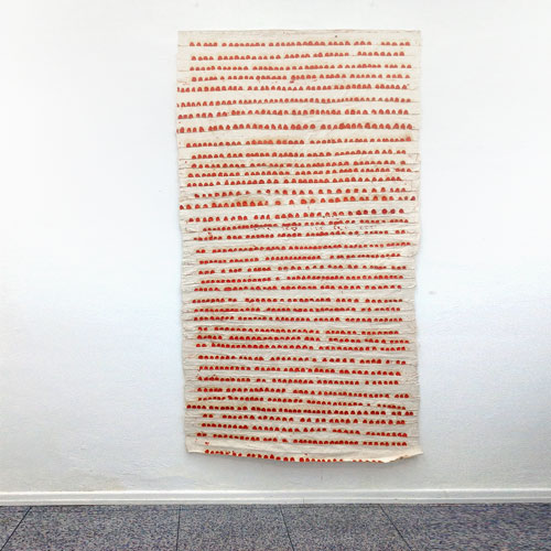 Sati Zech Galerie Berlin, 2013, Bollenbild no. 19, 2006, oil, canvas, 240 x 160 cm (94.5 x 63 inches)